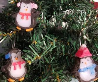 Hot Glue Penguin Ornament