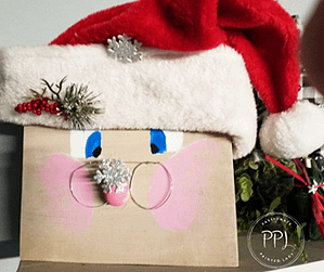 learn how to create this adorable wooden santa easily and affordably